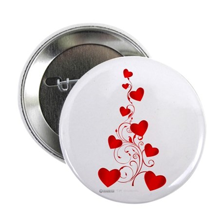 "Heart Tree 2.25"" Button"