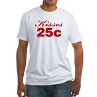 Kisses 25c Fitted T-Shirt