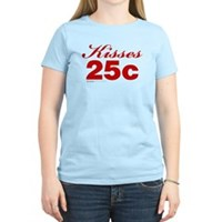 Kisses 25c Women's Light T-Shirt