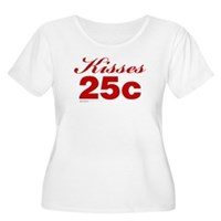 Kisses 25c Women's Plus Size Scoop Neck T-Shirt