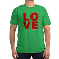 Red Love Men's Fitted T-Shirt (dark)