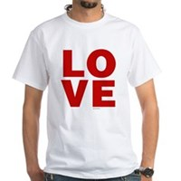 Red Love White T-Shirt