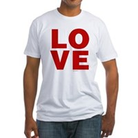 Red Love Fitted T-Shirt