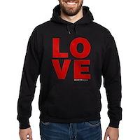 Red Love Hoodie (dark)