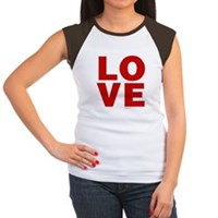 Red Love Women's Cap Sleeve T-Shirt