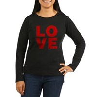 Red Love Women's Long Sleeve Dark T-Shirt