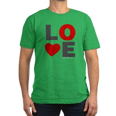 Love Heart Men's Fitted T-Shirt (dark)