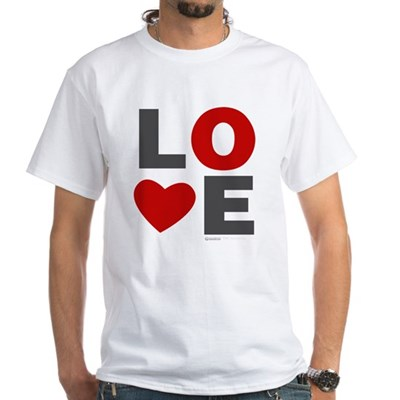 Love Heart White T-Shirt