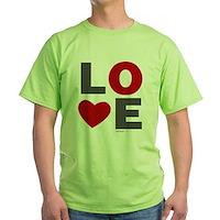 Love Heart Green T-Shirt