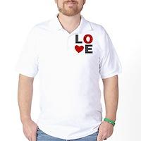 Love Heart Golf Shirt