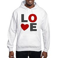 Love Heart Hooded Sweatshirt
