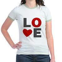 Love Heart Jr. Ringer T-Shirt