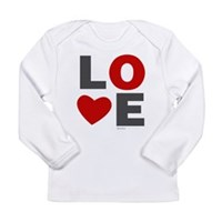 Love Heart Long Sleeve Infant T-Shirt