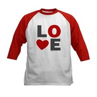 Love Heart Kids Baseball Jersey