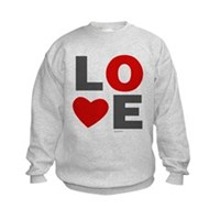 Love Heart Kids Sweatshirt