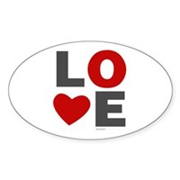 Love Heart Sticker (Oval)
