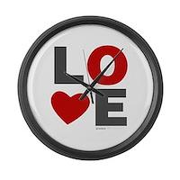 Love Heart Large Wall Clock