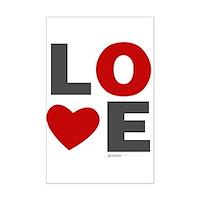 Love Heart Mini Poster Print
