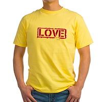 Love Stamp Yellow T-Shirt
