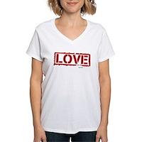 Love Stamp Women's V-Neck T-Shirt
