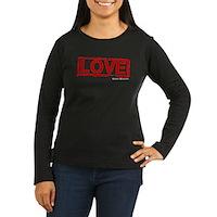 Love Stamp Women's Long Sleeve Dark T-Shirt