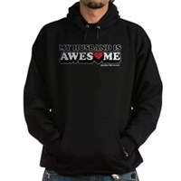 My Husband Is Awesome Hoodie (dark)