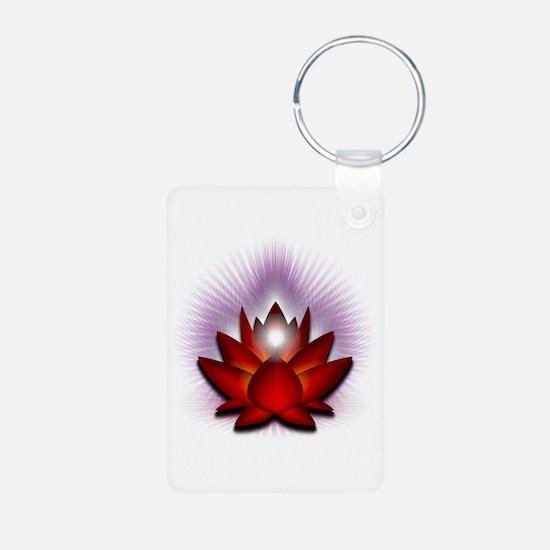 "Red ""Root"" Chakra Lotus Keychains"