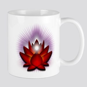 """Red """"Root"""" Chakra Lotus Mug"""