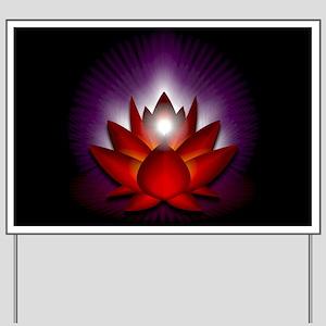 "Red ""Root"" Chakra Lotus Yard Sign"