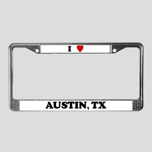 I Love Austin License Plate Frame