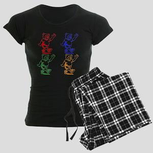 Cartoon Bear Women's Dark Pajamas