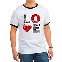 Vintage Love Heart Ringer T