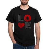 Vintage Love Heart Dark T-Shirt