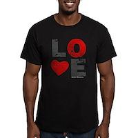 Vintage Love Heart Men's Fitted T-Shirt (dark)