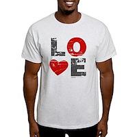 Vintage Love Heart Light T-Shirt