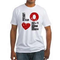 Vintage Love Heart Fitted T-Shirt