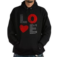 Vintage Love Heart Hoodie (dark)