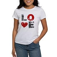 Vintage Love Heart Women's T-Shirt