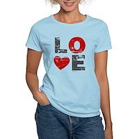Vintage Love Heart Women's Light T-Shirt