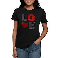 Vintage Love Heart Women's Dark T-Shirt