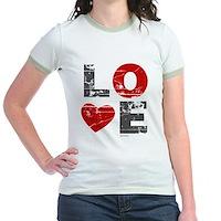 Vintage Love Heart Jr. Ringer T-Shirt