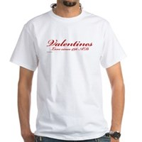 Valentines Love Since 496 AD White T-Shirt