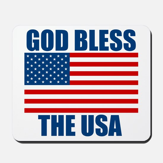 God Bless the USA Mousepad