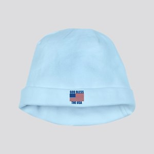 God Bless the USA baby hat