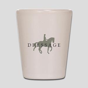 Piaffe W/ Dressage Text Shot Glass