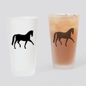 dressage extended trot Drinking Glass