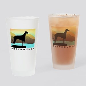 greyhound by the sea Drinking Glass