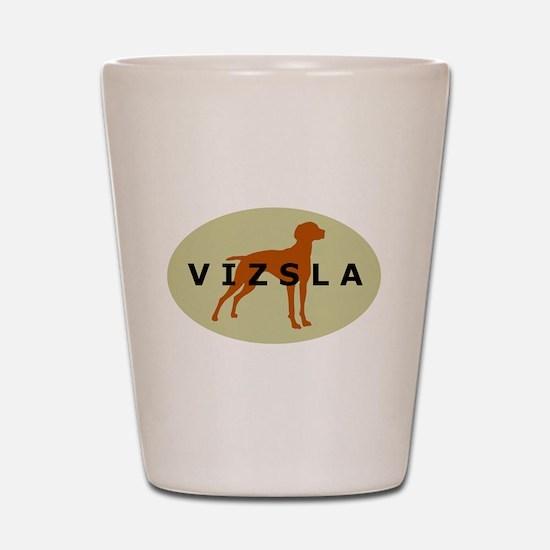 vizsla dog Shot Glass