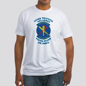 323rd Training Squadron with Text Fitted T-Shirt