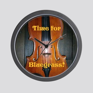 Bluegrass Fiddle Wall Clock